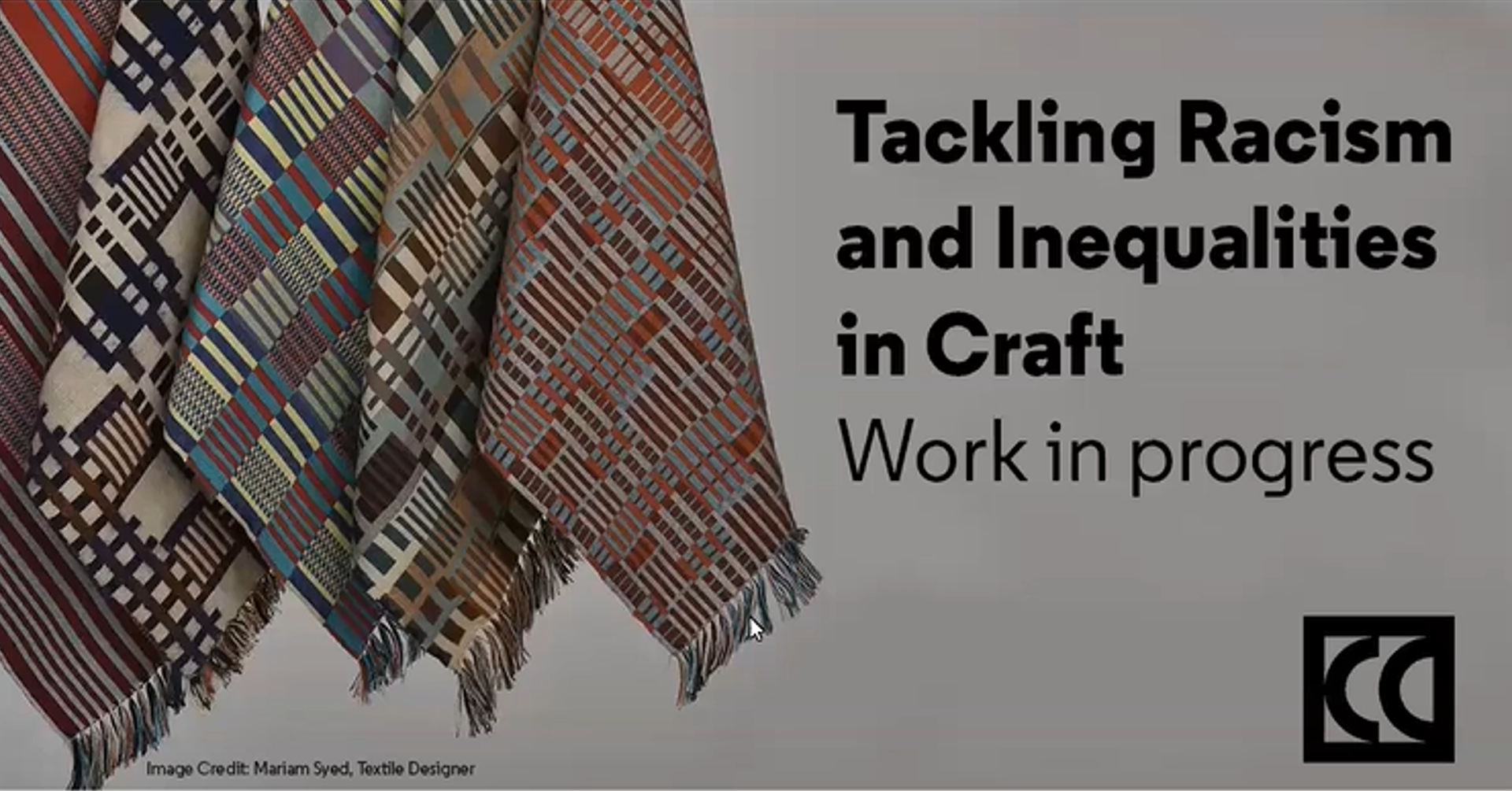 Tackling racism and inequalities in craft banner